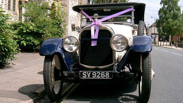 Hudson Convertible wedding car for hire in Bridgwater, Somerset