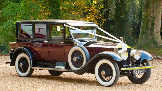 Rolls-Royce Silver Ghost Limousine wedding car for hire in Bridgwater, Somerset