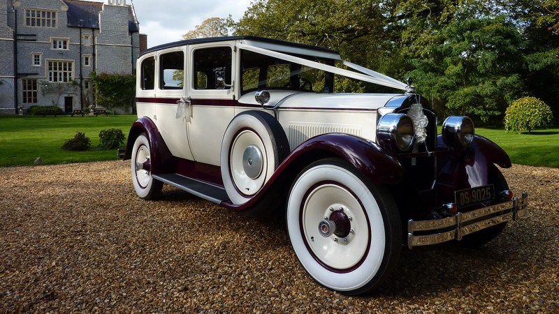 Packard Sedan wedding car for hire in Bridgwater, Somerset