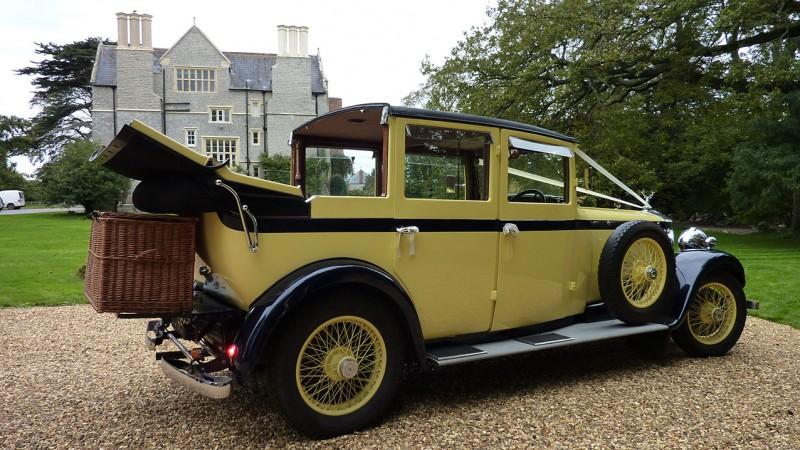 Lanchester Landaulette wedding car for hire in Bridgwater, Somerset