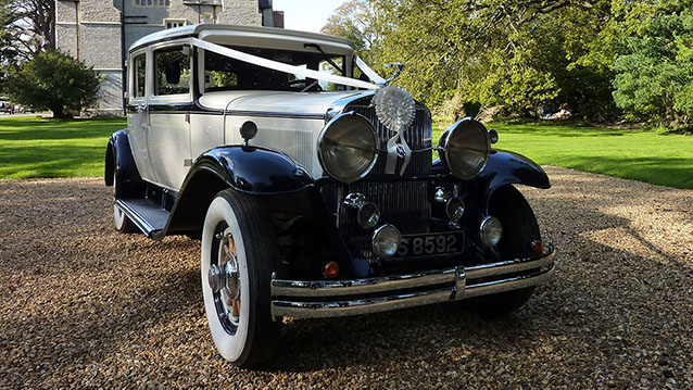 Cadillac Sedan wedding car for hire in Bridgwater, Somerset