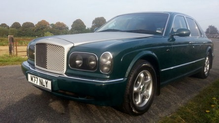 Bentley Arnage wedding car for hire in Poole, Dorset