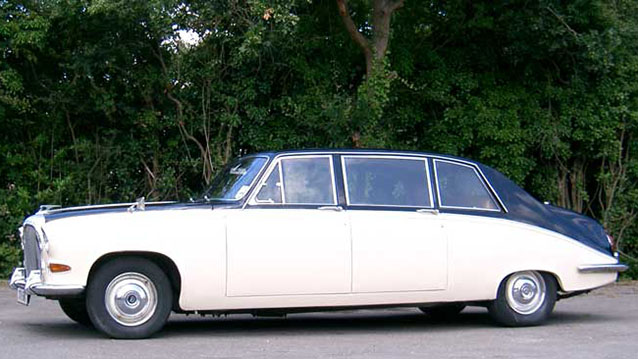 Daimler DS420 Limousine wedding car for hire in Fareham, Hampshire