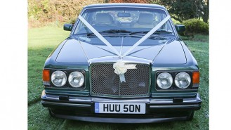 Bentley Eight wedding car for hire in Ringwood, Hampshire