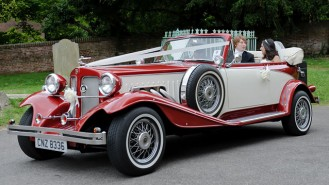 Beauford Convertible wedding car for hire in High Wycombe, Buckinghamshire