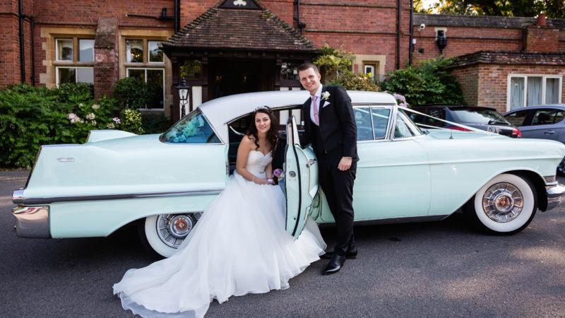 Cadillac Sedan de Ville wedding car for hire in Egham, Surrey