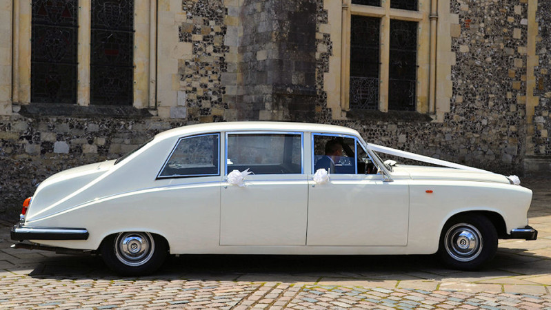 Daimler DS420 Limousine wedding car for hire in Southampton, Hampshire