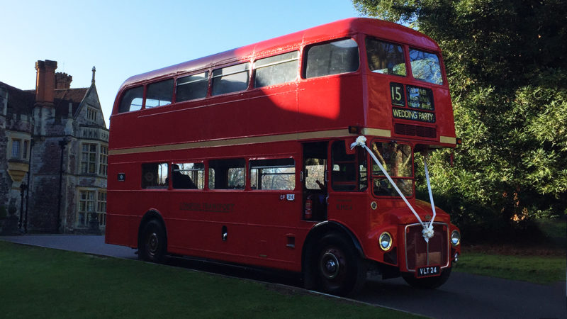 Routemaster London Bus wedding car for hire in Bournemouth, Dorset