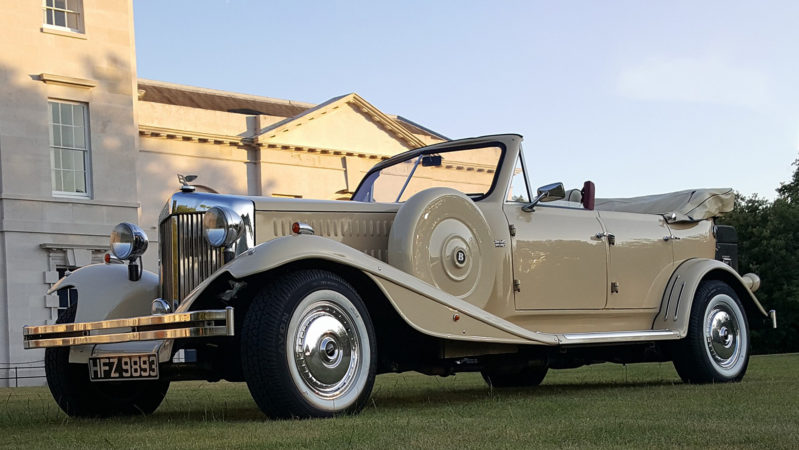 Beauford 4 Door Convertible LWB wedding car for hire in Portsmouth, Hampshire