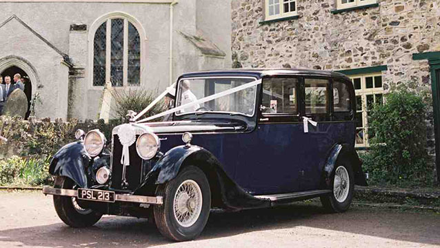 Daimler Limousine wedding car for hire in Bridgwater, Somerset