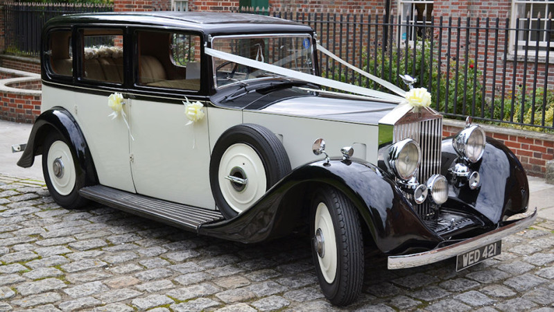 Rolls-Royce 20/25 Limousine wedding car for hire in Southampton, Hampshire