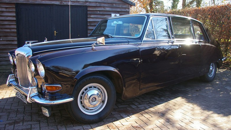 Daimler DS420 Limousine wedding car for hire in Lewes, East Sussex