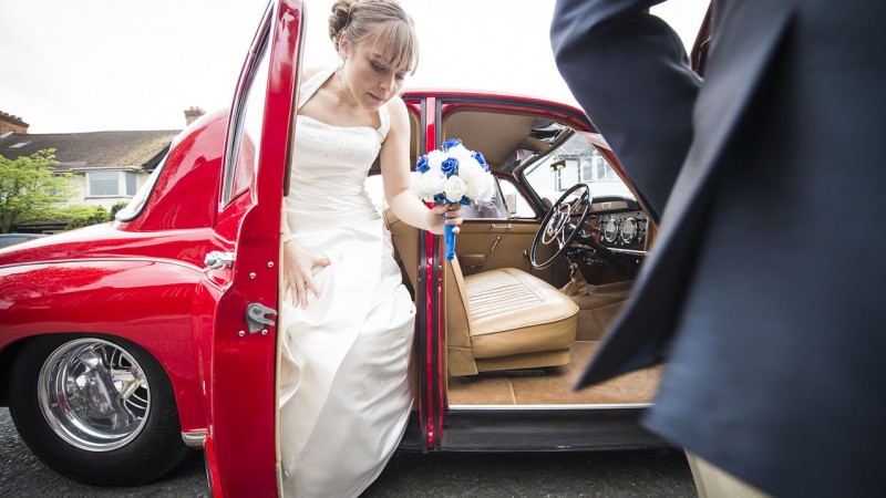 Rover 100 Hot Rod Saloon wedding car for hire in Mitcham, Surrey