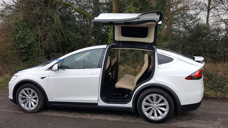 Tesla 'X' 100% Electric Car wedding car for hire in Verwood, Dorset