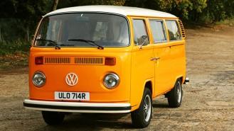 Volkswagen Camper Van T2 wedding car for hire in Farnham, Surrey