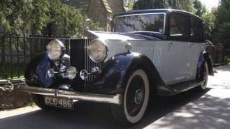 Rolls-Royce 20/25 Barker Saloon wedding car for hire in Hove, East Sussex