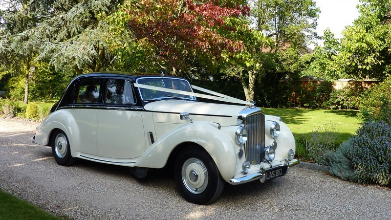 A Pair of Austin Princess Limousines wedding car for hire in Uckfield, East Sussex