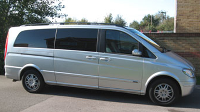 Mercedes Viano wedding car for hire in Fareham, Hampshire