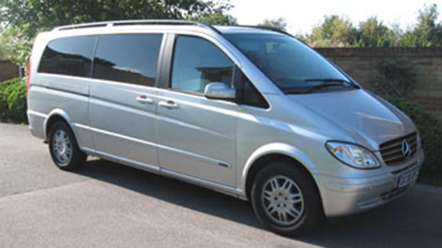 Mercedes Viano wedding car for hire in Fareham, Hampshire