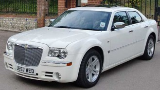Chrysler 300c wedding car for hire in Brighton, East Sussex