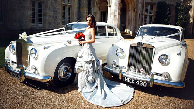 A Pair of Rolls-Royce Silver Cloud I's wedding car for hire in Cadnam, Hampshire