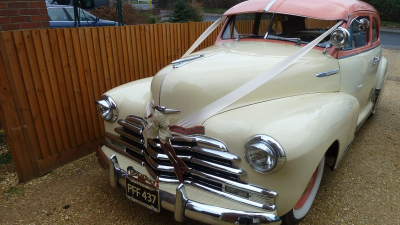 Chevrolet Stylemaster wedding car for hire in Southampton, Hampshire