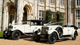A Pair of Rolls-Royce Vintage Convertibles wedding car for hire in Bournemouth, Dorset