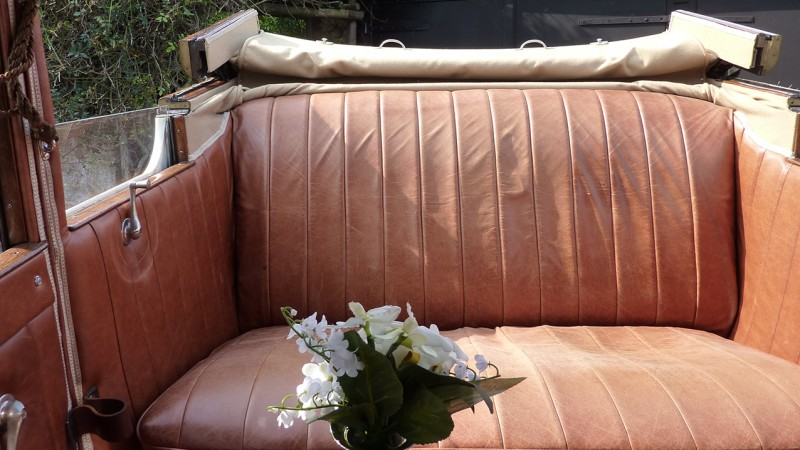 A Pair of Vintage Austins wedding car for hire in Taunton, Somerset