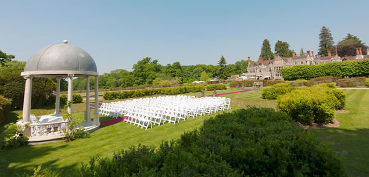 Picture of Rhinefield Outdoor Wedding Gazebo in their garden