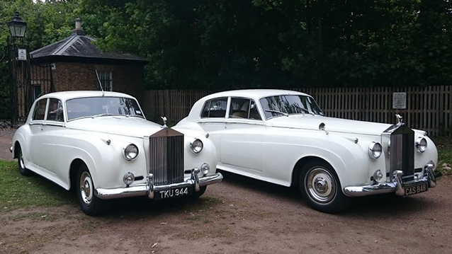 A Pair of Rolls-Royce Silver Cloud II's wedding car for hire in Richmond, West London