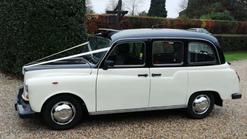 Taxi Cab wedding car for hire in Uckfield, East Sussex