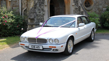 Jaguar XJ8 Executive wedding car for hire in Horsham, Surrey