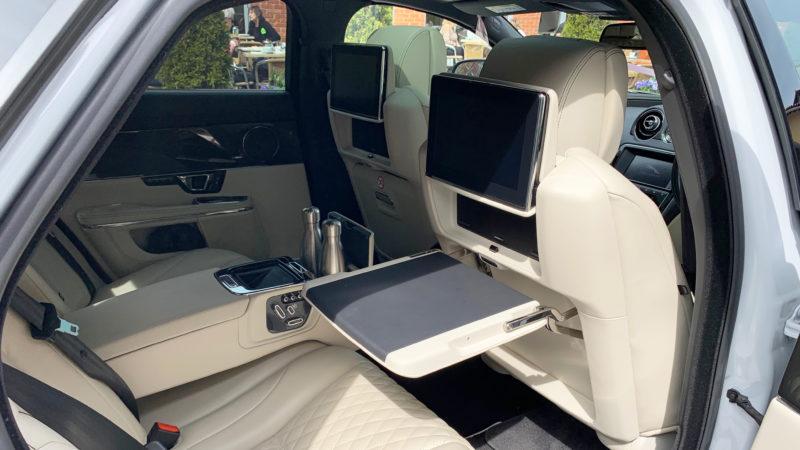 Jaguar XJ LWB Autobiography wedding car for hire in Highcliffe, Dorset