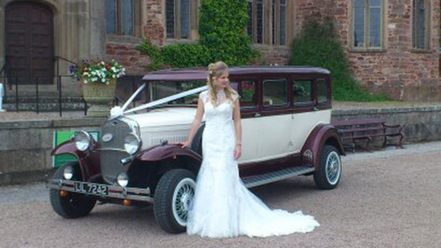 Bramwith Limousine wedding car for hire in Launceston, Devon