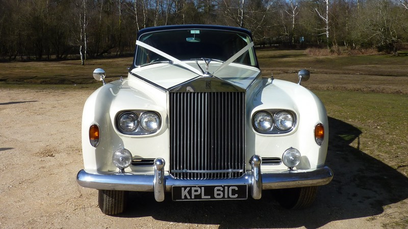 Rolls-Royce Phantom V Limousine wedding car for hire in Cadnam, Hampshire
