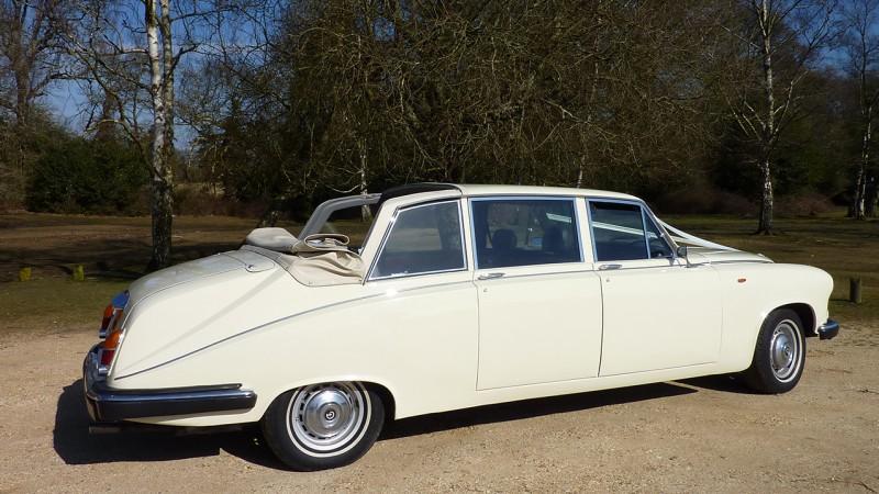 Daimler DS420 State Landaulette wedding car for hire in Cadnam, Hampshire