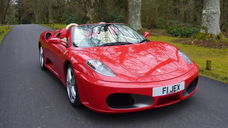 Ferrari F430 Spider Convertible wedding car for hire in Cadnam, Hampshire