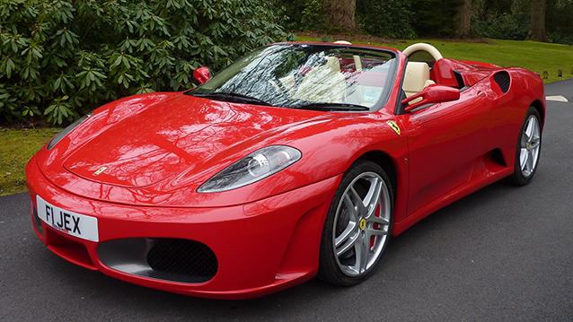 Ferrari F430 Spider Convertible wedding car for hire in Cadnam, Hampshire