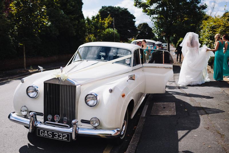 Seaside Wedding in Rolls Royce Silver Cloud Wedding Car