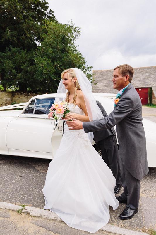 Nikki, The bride by her chosen Wedding Transport