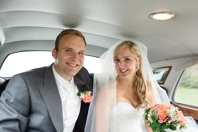 Sven and Nikki, The Happy Couple in their Wedding Transport