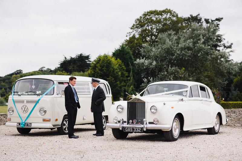 Wedding Transport awaiting at the seaside wedding venue