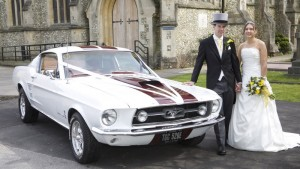 Treat the Groom to a Muscle Car Ford Mustang Fastback
