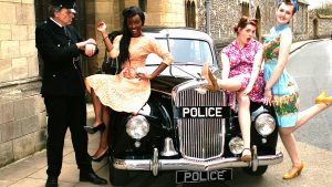 Classic Wolseley police car available for Wedding Hire
