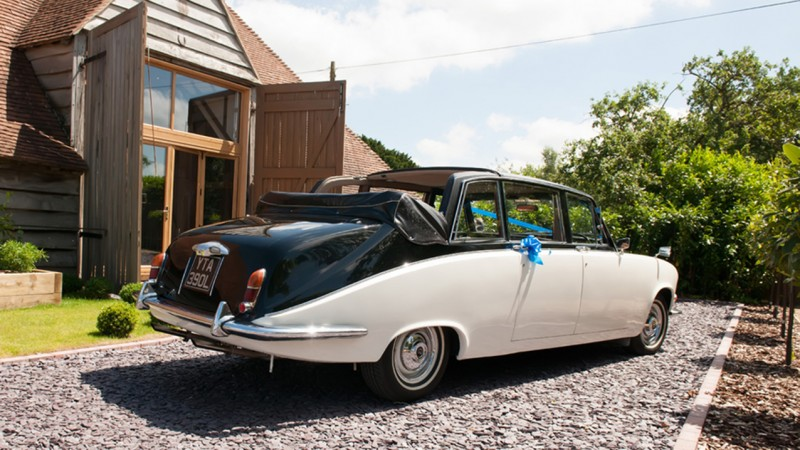 Daimler DS420 State Landaulette wedding car for hire in Portsmouth, Hampshire