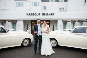 Wedding Cars at Harbour Heights hotel Poole Dorset
