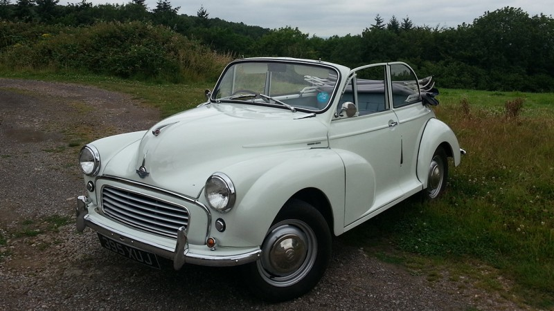 Classic Morris Minor Convertible Wedding Car Hire In Somerset