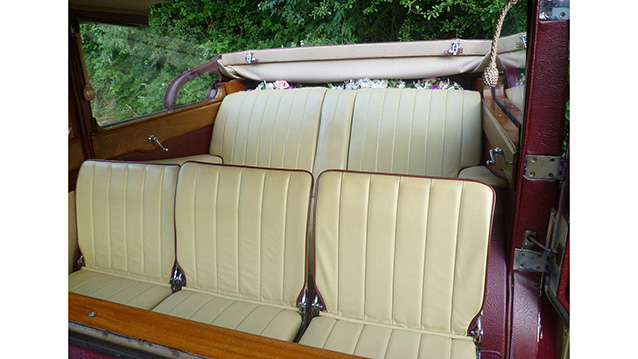 Daimler Royale State Limousine Landaulette wedding car for hire in Andover, Hampshire