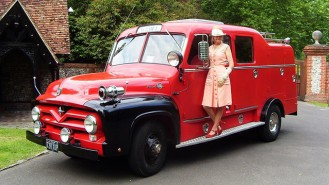 Florida Fire Truck wedding car for hire in Andover, Hampshire
