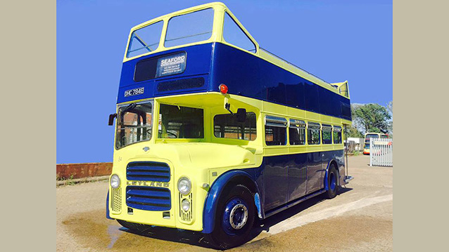 Leyland PD2A Open Top Bus wedding car for hire in Newhaven, East Sussex